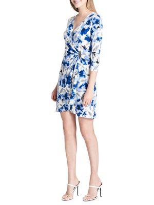 Floral Print Wrap Dress 500088163495