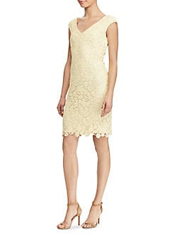QUICK VIEW. Lauren Ralph Lauren. Lace V-Neck Dress