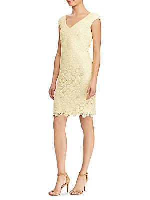 Lauren Ralph Lauren - Lace V-Neck Dress