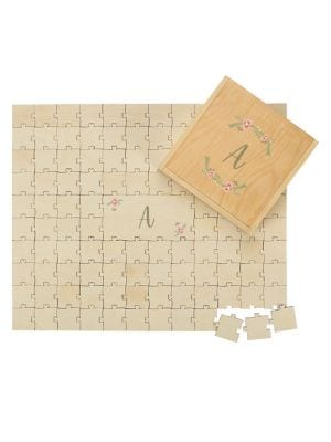 Personalized Wooden Wedding Guestbook Puzzle