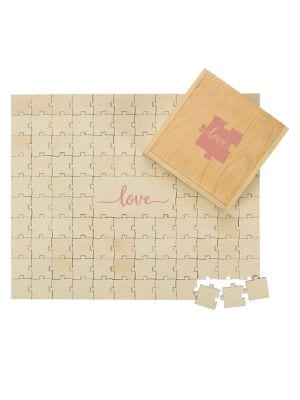 Wedding Love Wooden Guest Book Puzzle