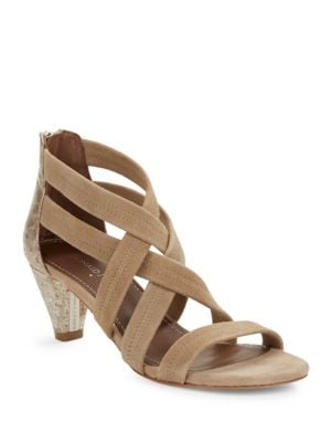 Vida Leather Crisscross Sandals by Donald J Pliner