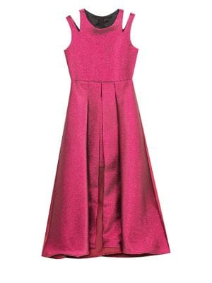 Girls Metallic Jacquard ALine Dress