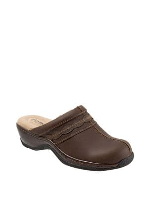 Abby Leather Clogs 500088180279