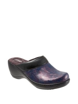Murietta Marble Leather Clogs 500088188163