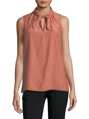 OPHELIA SILK TIE-NECK BLOUSE