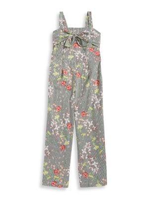 Girl's Floral Jumpsuit...