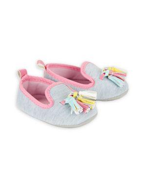 Baby Girls Heathered SlipOn Booties