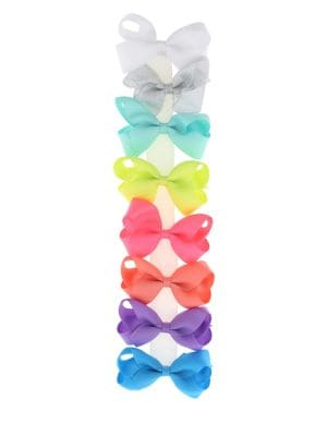 Set of Eight Bow Hair Clips 500088212178