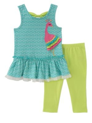 Baby Girls TwoPiece Ruffled Tunic and Capri Pants Set