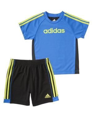 Baby Boys TwoPiece Hat Trick Top and Shorts Set