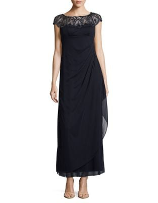 Embellished Mock Wrap Gown by Xscape