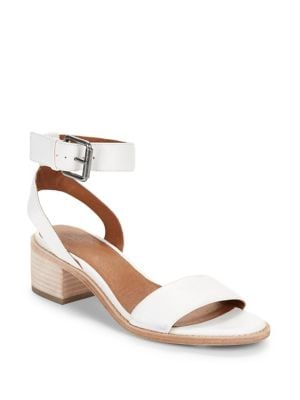 Cindy Leather Ankle Strap Sandals 500088219847