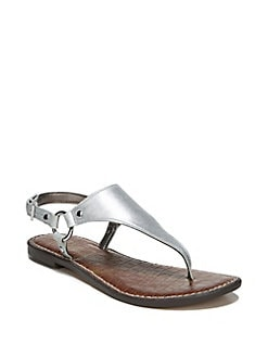 0cce72cfef85a Greta Metallic Leather Thong Sandals SILVER. Product image.  . QUICKVIEW. Sam  Edelman