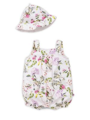 Baby Girl's Floral Romper...