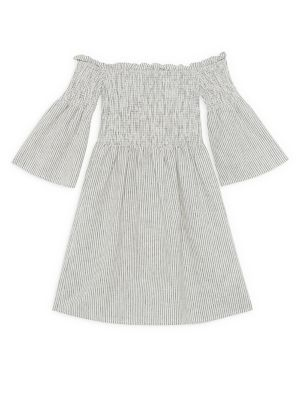 Girls Nuno Amaya Shirred BellSleeve Dress