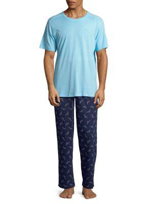 Two-Piece Knit Pajama...