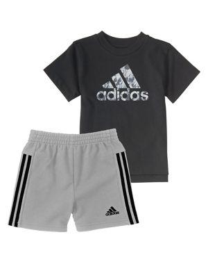 Baby Boys Logo Tee and Sport Shorts Set