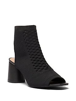 """Carilynn"" Casual Booties Black Leather"