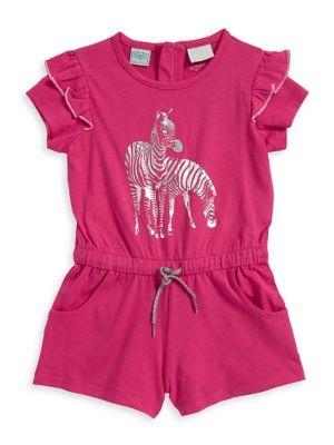 Little Girl's Zebra Romper...