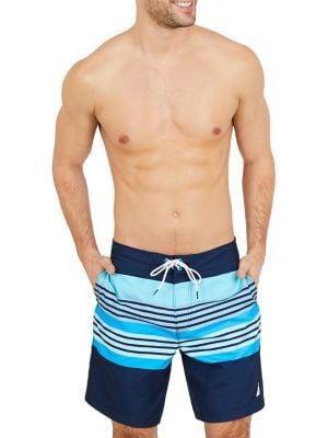 Quick-Dry Stripe Swim...