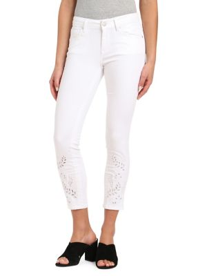 Adriana Deco Mid-Rise Ankle Jeans 500088268195