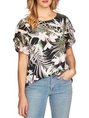 Soft Palms Ruffle Top 500088276051