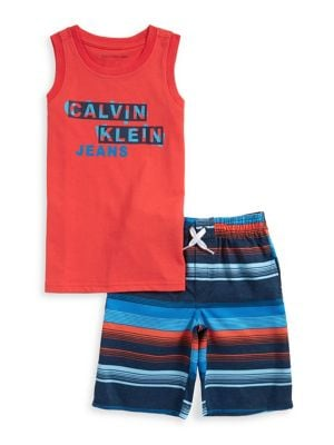 Little Boys TwoPiece Muscle Shirt  Shorts Set