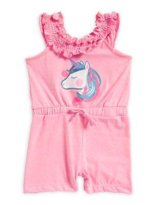 Baby Girl's Unicorn Romper...