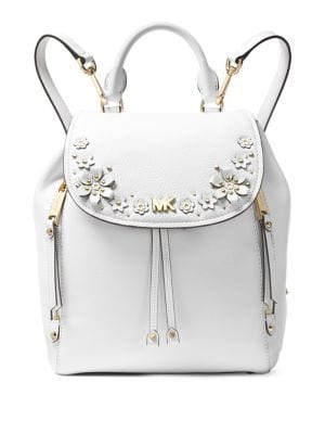 MICHAEL MICHAEL KORS EVIE EMBELLISHED SMALL LEATHER BACKPACK