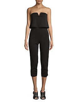 Strapless Jumpsuit BLACK. Product image
