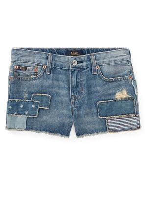 Little Girls Denim Shorts