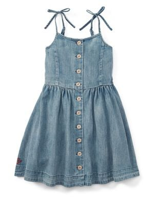 Little Girls Denim Dress