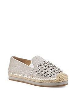 b872f5bf6 Susie Jeweled Linen Espadrille Flats SILVER. Product image. QUICKVIEW. Botkier  New York