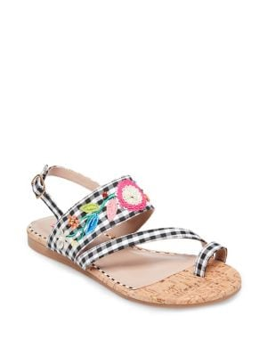 ANSLEY EMBROIDERED SANDALS