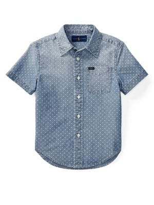 Little Boy's Chambray Collared Shirt 500088331986