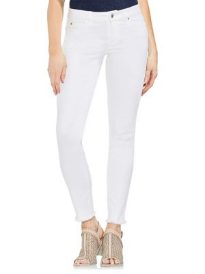 Frayed Cuff Skinny Jeans 500088347395