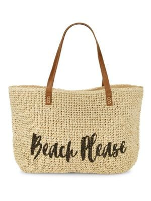 Graphic Straw Tote @...
