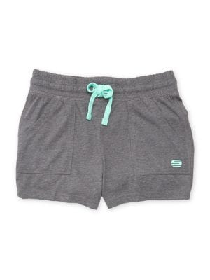 Little Girls Knit Drawstring Shorts