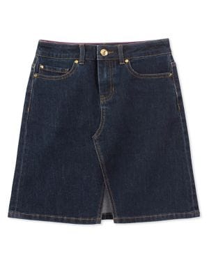 Girls Stretch Denim Skirt