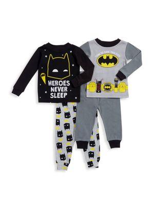 Little Boys TwoPiece Batman Long Sleeve Pajama Set