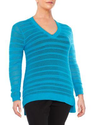 Knit V-Neck Sweater by Michael Michael Kors Plus