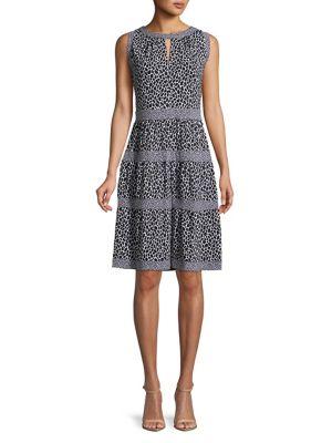fad95107525 MICHAEL MICHAEL KORS Leopard Print Fit-And-Flare Dress