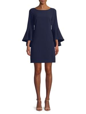 Classic Bell-Sleeve Dress 500088387928