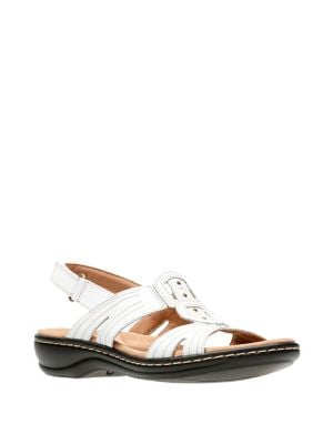 a57cd240c3e Clarks Women'S Leisa Claytin Strappy Sandal, White Leather