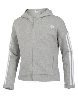 Girls 3Stripes Zip Hoodie