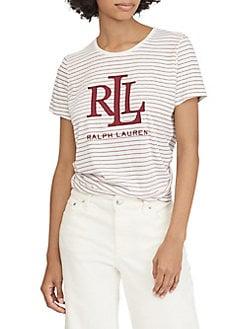 Product image. QUICK VIEW. Lauren Ralph Lauren. Striped Logo Tee