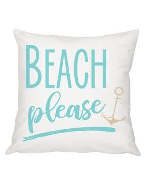 Summer Gifts Beach Please Throw Pillow