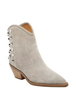 Low Heel Suede Mid Calf Boots - Off-white 37 for sale buy authentic online sale clearance store 5zT2E6