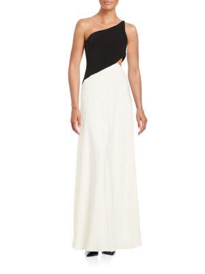 One-Shoulder Cutout Gown by Jill Jill Stuart